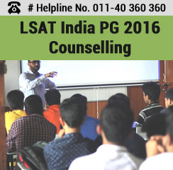 LSAT India PG 2016 Counselling