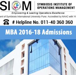 SIOM Nashik MBA batch 2016-18 admissions