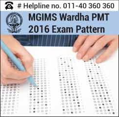 MGIMS PMT 2016 Exam Pattern