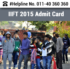 IIFT 2015 Admit Card available for download from November 10