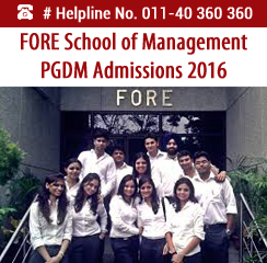 FORE School of Management Announces PGDM Admissions 2016