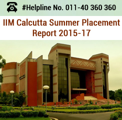 IIM Calcutta Summer Placement 2015-17: Consulting sector recruits 23% batch