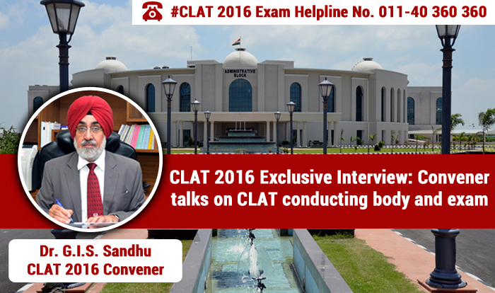 CLAT 2016 Exclusive Interview: Convener talks on CLAT Conducting Body and exam