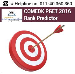 COMEDK PGET 2016 Rank Predictor