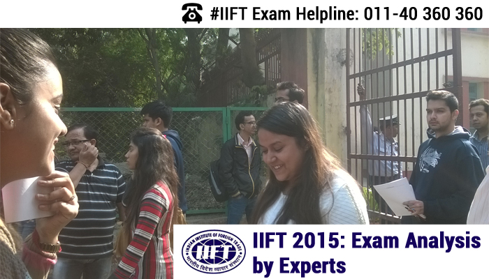 IIFT 2015 Analysis by Experts - Moderate to Tough paper with 124 questions