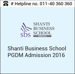 Shanti Business School conducts PGDM and PGDM (Communication) Admission 2016-18