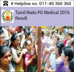 Tamil Nadu PG Medical 2016 Result