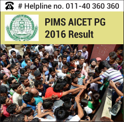 PIMS AICET PG 2016 Result