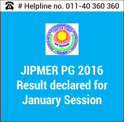 JIPMER PG 2016 Result declared for January Session