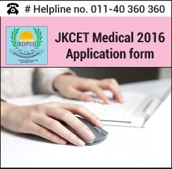 JKCET Medical 2016 Application form