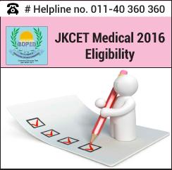 JKCET Medical 2016 Eligibility