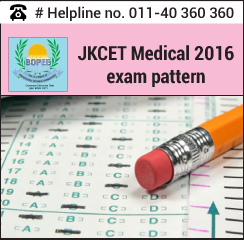 JKCET Medical 2016 Exam pattern
