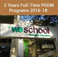 WeSchool announces PGDM admissions 2016-18