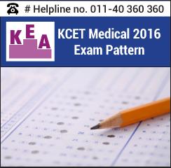KCET Medical 2016 Exam Pattern