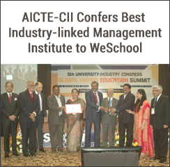 WeSchool wins the AICTE-CII National Award for Best Industry Linked B-School in India