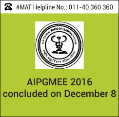 AIPGMEE 2016 concluded on December 8
