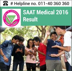 SAAT Medical 2016 Result