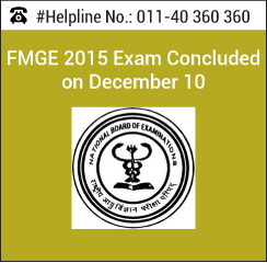 FMGE 2015 Exam Concluded on December 10