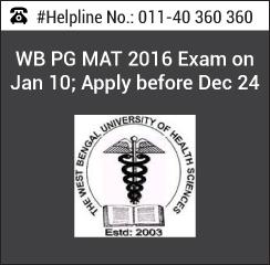 WB PG MAT 2016 Exam on Jan 10; Apply before Dec 24