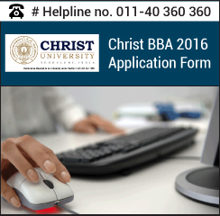 Christ University BBA 2016 Application Form