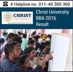 Christ University BBA 2016 Result
