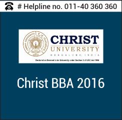 Christ University BBA Entrance Exam 2016