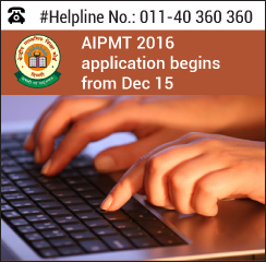 AIPMT 2016 application process starts from December 15