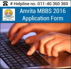 Amrita MBBS Application form 2016