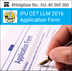 IPU CET LLM 2016 Application Form