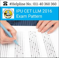 IPU CET LLM 2016 Exam Pattern