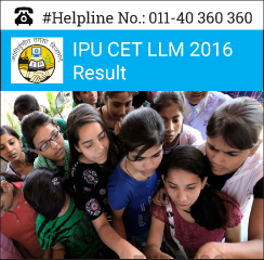 IPU CET LLM 2016 Result