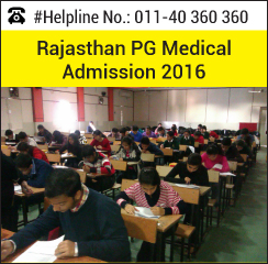 Rajasthan PG Medical Admission 2016