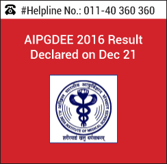 AIPGDEE 2016 Result Declared on Dec 21