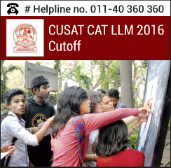 CUSAT CAT LLM 2016 Cutoff