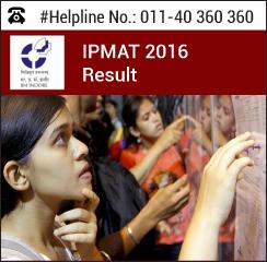 IPMAT 2016 Result