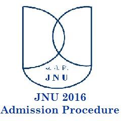 JNU 2016 Admission Procedure