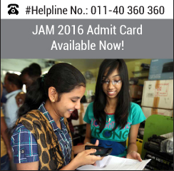 JAM 2016 Admit Card Available Now!
