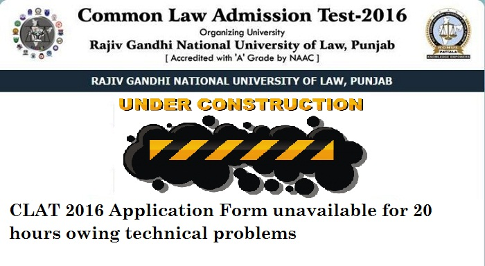 CLAT 2016: Application Form unavailable for 20 hours owing technical problems