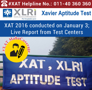 XAT 2016 conducted on January 3; Live Report from Test Centers