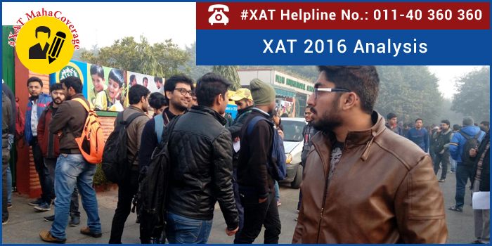 XAT 2016 Analysis: Moderate difficulty level