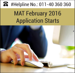 MAT February 2016 Application starts; last date to apply January 23