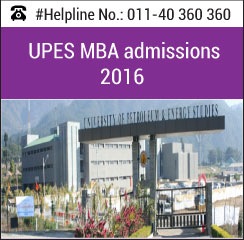 University of Petroleum & Energy Studies announces MBA admissions 2016