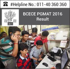 BCECE PGMAT 2016 Result