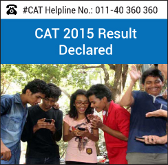 CAT 2015 Result Declared by IIM Ahmedabad