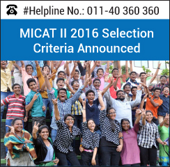 MICA announces renewed selection criteria for MICAT 2016