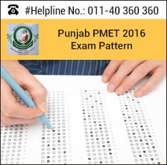 Punjab PMET 2016 Exam pattern