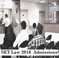 SET Law 2016 Admission