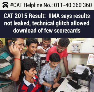 CAT 2015 Result declared:  IIMA says results not leaked