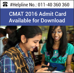 AICTE releases CMAT 2016 Admit Card from January 9