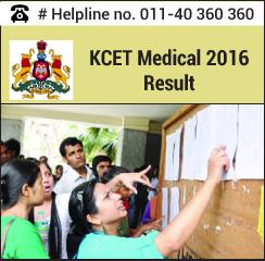 KCET Medical 2016 Result
